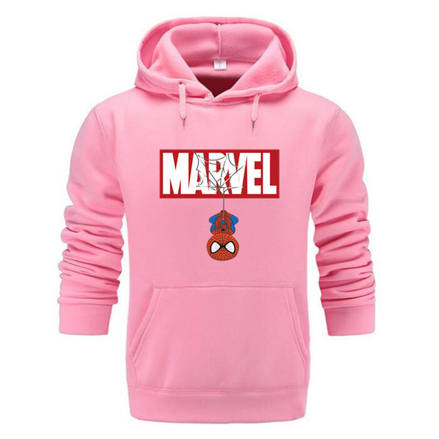 Marvel Hoodies Men Brand 2019 New Spiderman Funny Long Sleeve Hooded Sweatshirt Mens Hoodie Tracksuit Sweat Coat Casual homme 3