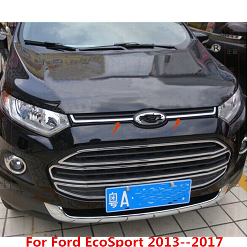 Front Corner Protector Cover Trims for Ford Ecosport 2013-2017 Chrome 2PCS Trim
