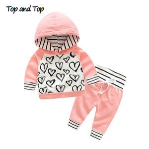 top and top Infant Clothes Pants 2pcs Outfit Cotton Set 2451b0437ce
