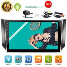 Wireless Camera included,Android 7.1 Car DVD Player 2 din Car Stereo 10.1 inch Large Rotary Screen Design Wifi Mirrorlink 1080P