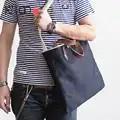 AETOO Literary tannin denim handbag men's shoulder crossbody bag