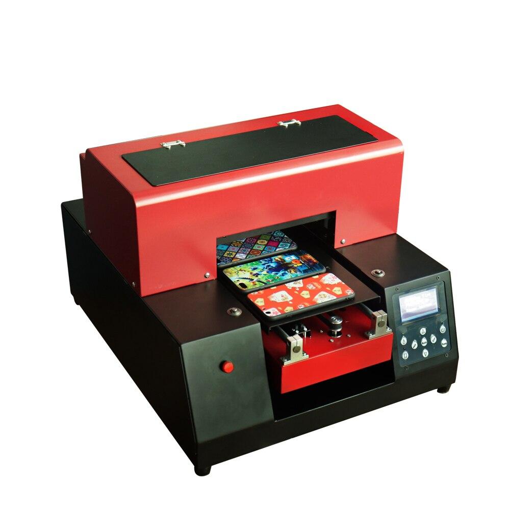 A4 UV imprimante automatique A4 taille 6 couleur UV à plat imprimante coque de téléphone en métal Machine d'impression pour coque de téléphone/cuir/verre