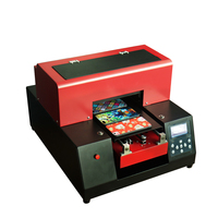 A4 UV Printer Automatic A4 Size 6 Color UV Flatbed Printer Phone Case Metal Printing Machine for Phone case/ leather/Glass