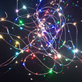 2x10 m 33ft 100L cor RGB mutável íris decorativos de prata fio de cobre LED luzes de Natal do casamento do Dia Das Bruxas estrelado luz