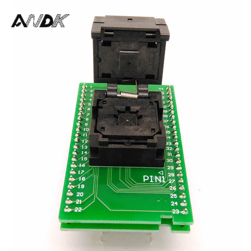 QFN44 MLF44 WLCSP44 To DIP44 Double-Board Programming Socket IC550-0444-010-G Pitch 0.5mm IC Size 7X7mm Adapter SMT Test Socket