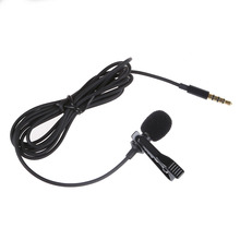 Top Deals Lavalier Lapel Clip-on Omnidirectional Microphone TRRS 3.5mm Jack Handsfree 3.28ft Condenser Mini Recording Mic
