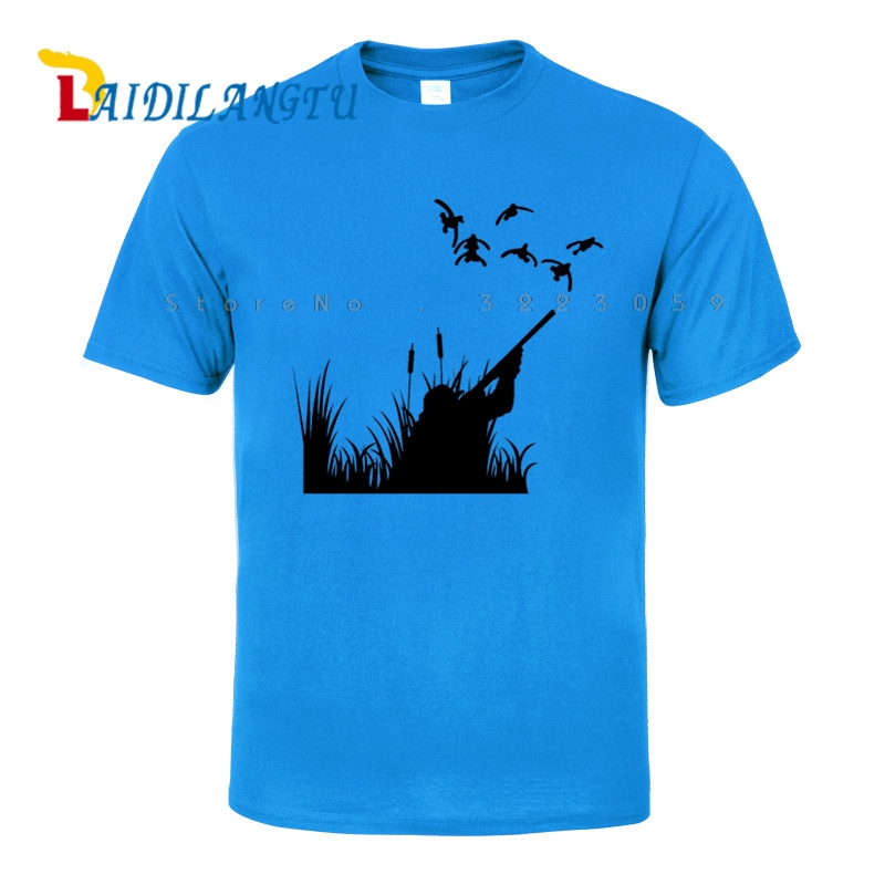 Novelty Hunting Duck Outdoors funny tee cute cotton cool tshirt lovely summer costume t-shirt