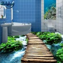 beibehang 3D bridge water floor tiles background download large custom wallpaper mural decoration