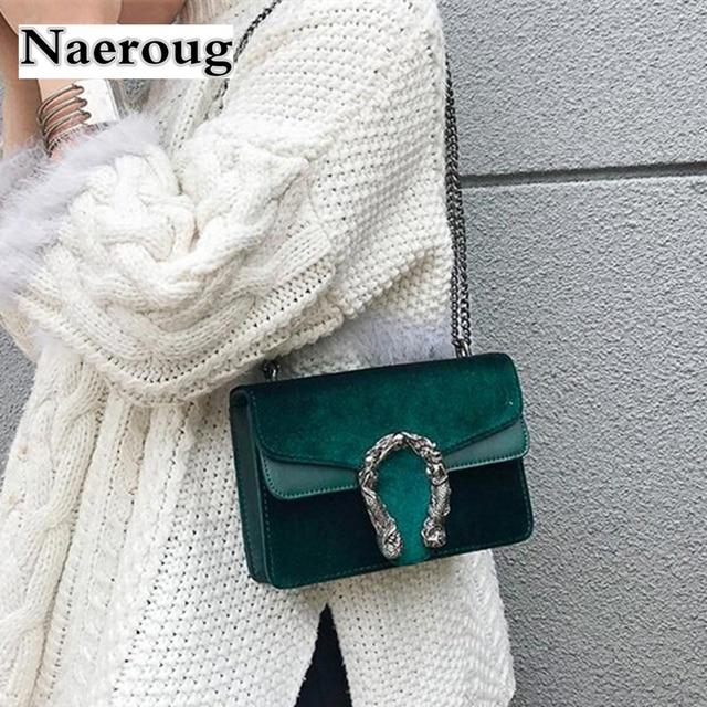 Luxury France Brand Women Green Tote Bags Famous Designer Women Handbag  Velvet Leather Clutch Purse Women Satchel Crossbody Bags 715878674eecb
