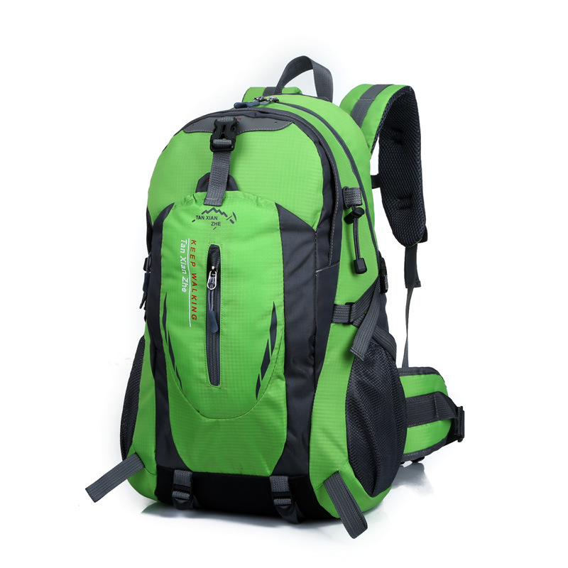 HOT 2019 Outdoor Classic Student Waterproof Sport Nylon travel backpack Hiking Camping Mountaineering bag 40L With cover 12color