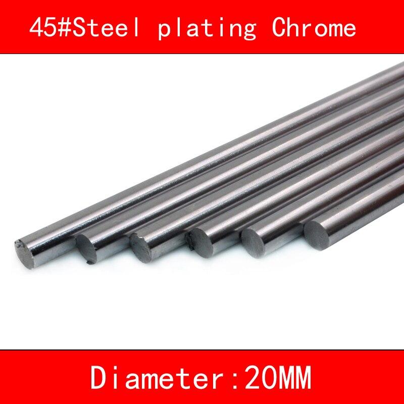 45#Steel electroplate chrome linear shaft diameter 20mm 30mm length 100mm-500mm 3d printer part cnc linear rail shaft цены