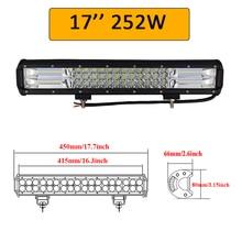 """Auxtings 5″ 14″ 17″ 20″ 23"""" 3-Row LED Light Bar Offroad Led Bar Combo Beam Led Work Light Bar for Truck SUV ATV 4×4 4WD 12v 24V"""