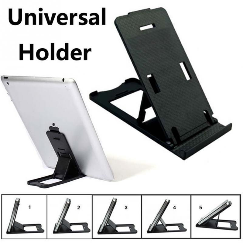 2017 Universal Folding Adjustable Mobile Phone Tablet PC Holder Plastic Mobile Phone Support For iPhone For Android Phones
