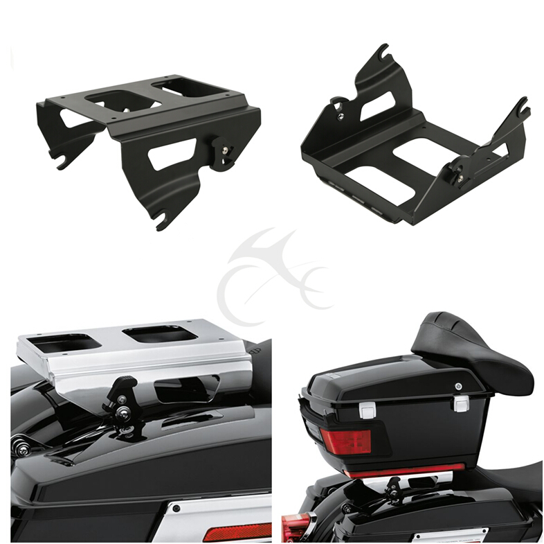Motorcycle Solo Tour-Pak Mount Rack For Harley Touring Models Road King Street Electra Glide FLTR FLTRX FLHT FLHX 2009-2013 9 windscreen windshield trim case for harley touring road glide fltr 1998 2013