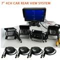 """ENVÍO LIBRE 12 V-24 V 7 """"quad de split monitor del coche de 4 canales de vídeo vista 4 sony ccd 600tvl ir cámara de visión trasera para el autobús camión de carga"""