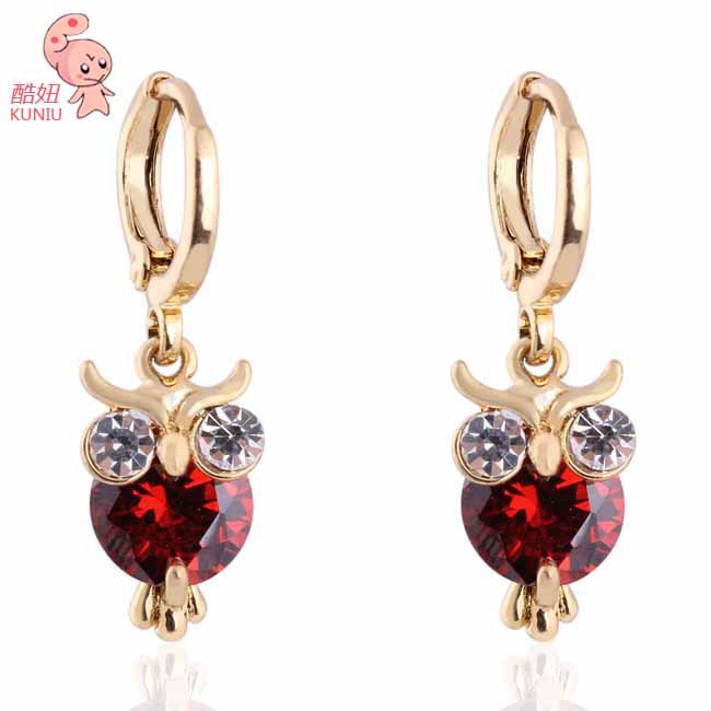 New Arrival Latest Style Owl Earrings Fashion Jewelry Gold Plated Earring Kuniu Er0442 In Drop From Accessories On Aliexpress