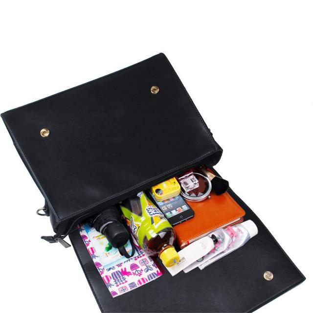 ECOSUSI New Fashion Women PU Leather Handbags Vintage Pu Leather Messenger Bags Shoulder Business Laptop Messenger Bags Tote Bag