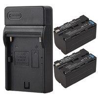2pcs 5200mAh NP F770 F750 Video Camera Digital Battery Charger For Sony NP F750 NP F770
