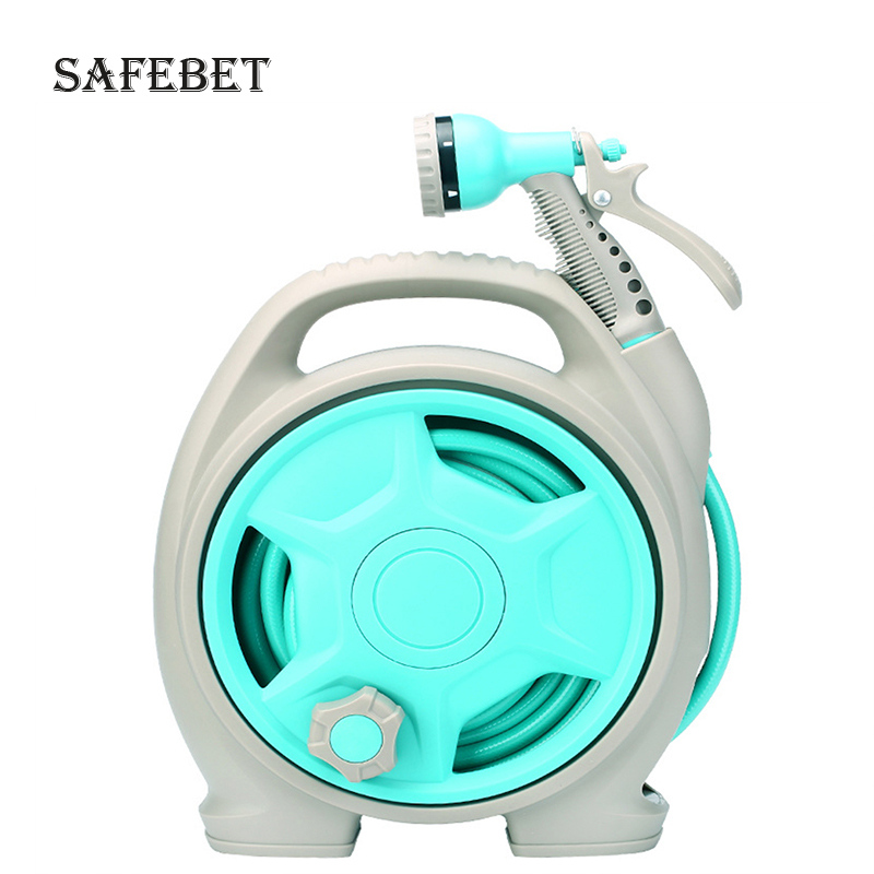 Mini portable garden hose hose reel watering multi function high pressure gun head gardening garden reel