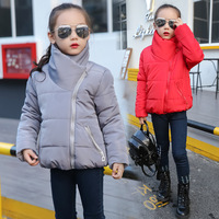 New 2017 Thickened Big Girl Clothes Autumn Winter Warm Jackets Female Children Casual Infant Padded Clothing