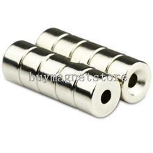 7*4 100 шт супер сильные Круглые неодимовые кольцевые магниты 7 мм x 4 мм отверстие: 2 мм редкоземельные N35 ndfeb неодимовые