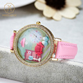 Miss Keke Cute 3D Quartz Dress Watches Women Girls Handmade Clay Mini World Watch Clock Rhinestone Cartoon Wrist Watches 1013