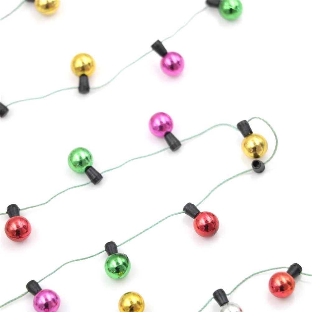 1/12 مقياس 1 سلسلة من أضواء وهمية عيد الميلاد الديكور الجيد بيت الدمية اكسسوارات أثاث مصغر سلسلة