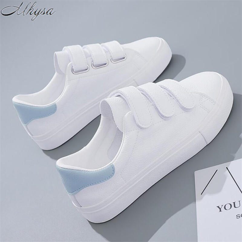 Mhysa 2019 New Spring Fashion Ladies Velcro Vulcanized Shoes Comfortable Breathable Canvas Shoes Low To Help Casual  Shoes M 115