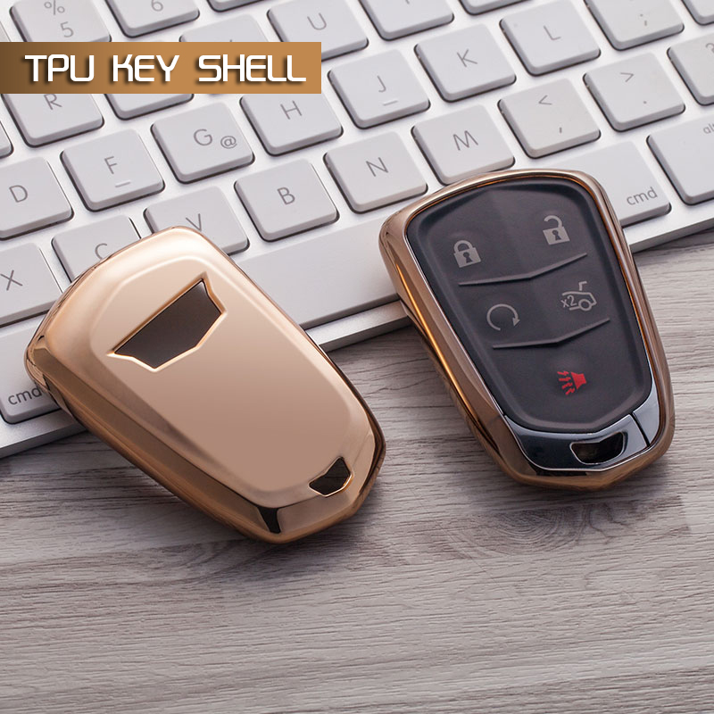 TPU Auto Key Shell Holder Remote Car Key Case Cover For