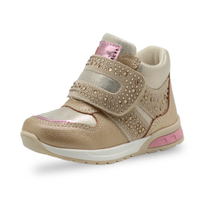 Image 2 - Apakowa Girls Fashion Rhinestone Ankle Boots Toddler Baby Soft Spring Shoes for Girls Party Outdoor Walking Anti slip Footwear