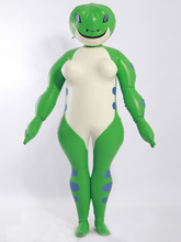 Latex Rubber Catsuit Badysuit Suit Double-layer inflatable frog Unisex Masquerade