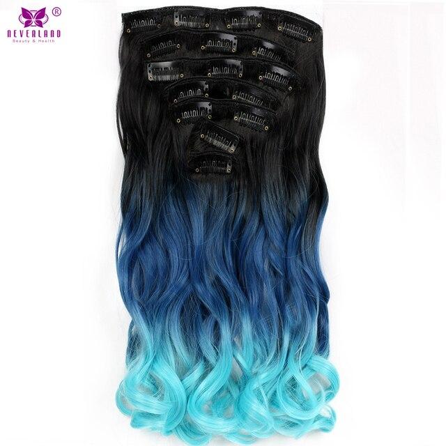 Aimei 20 Women Wavy Synthetic Hairpiece 7pcsset Full Head Clip In