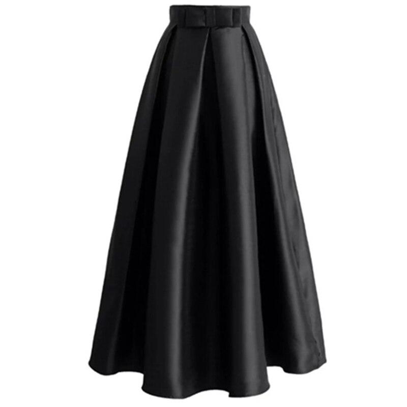 Plus Size Skirts Faldas Mujer Moda 19 Abaya Dubai Turkish Long Pleated Maxi High Waist Skirt Women Jupe Longue Femme Skirts 25