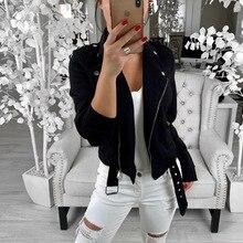 Autumn Winter Women Zipper Button Jacket Turn-down Collar Slim Coat Plus Size Womens  Clothing