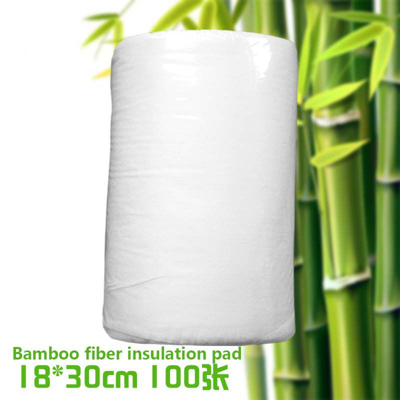 80*30cm 1 Roll Bamboo Flushable Liner,100 Sheets/Roll Biodegradable Disposable Baby Nappy Changings