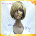 Hot Sale Short Bob Wig Synthetic Honey Blonde Wigs for White Women Young Lady Wigs OL Style Highlight Blonde Wig