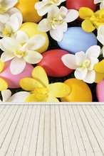 Laeacco Easter Eggs Flowers Rabbit Floor Baby Scene Photography Backgrounds Customized Photographic Backdrops For Photo Studio s 3227 easter eggs easter basket wood floor baby newborn child photo background photography backdrops