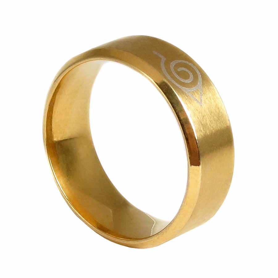 คลาสสิกแหวนสแตนเลสสีดำภาพยนตร์รอบนารูโตะแหวน2018