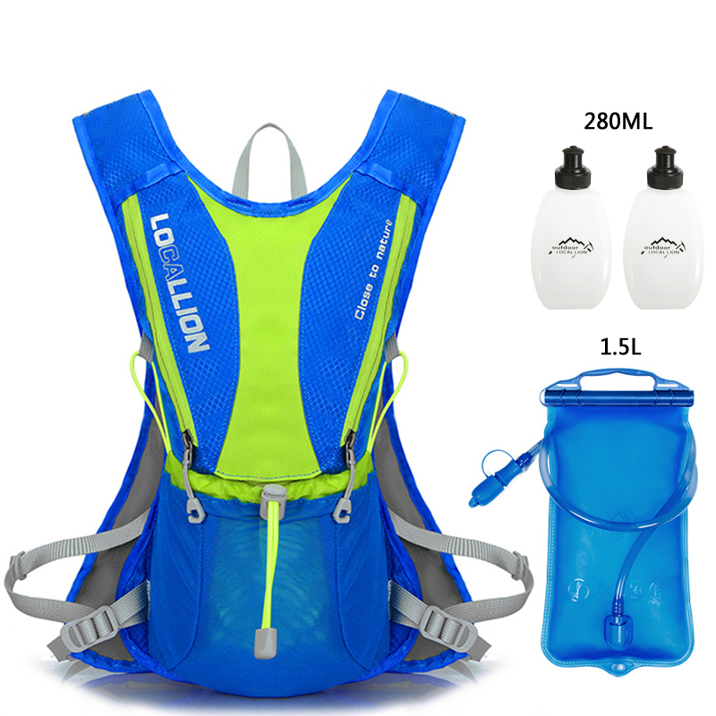 5L Cycling Backpack Hydration Vest Pack With 1.5L Water Bladder Bag Light Sport Running Bag Marathon Trail Running Backpack Men