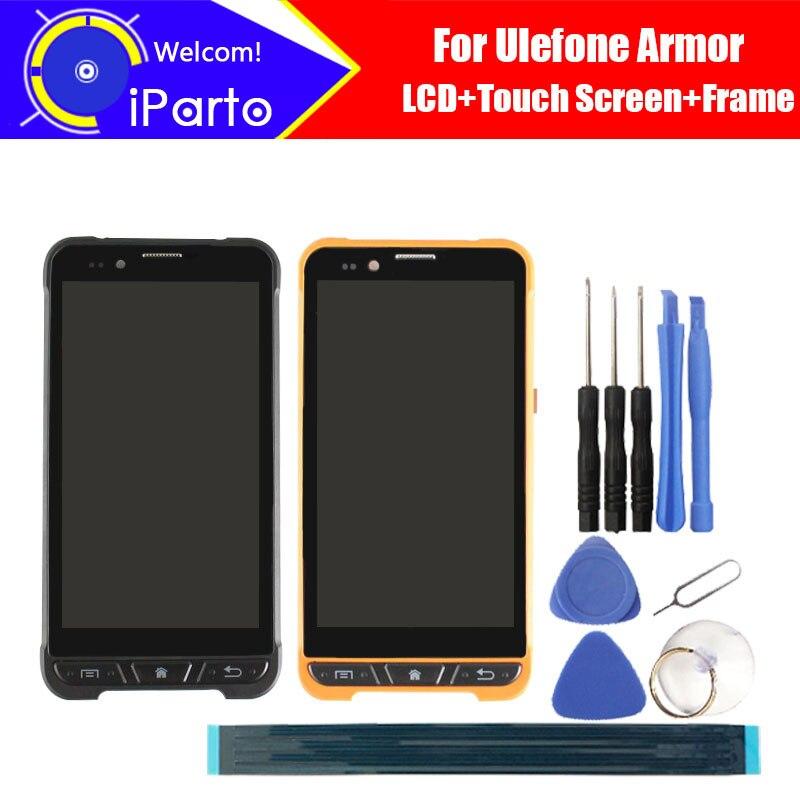 4.7 pollice Ulefone Armatura Display LCD + Touch Screen + Frame Originale Al 100% Testato Digitizer Pannello di Vetro di Ricambio Per Armatura telefono