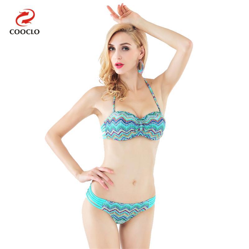 vendita calda di vendita del bikini delle donne costumi da bagno a fascia top bikini a
