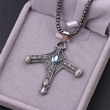Novo jogo bloodborne colar de jóias vintage cruz colar & pingentes para homens colar de amuleto masculino colar atacado