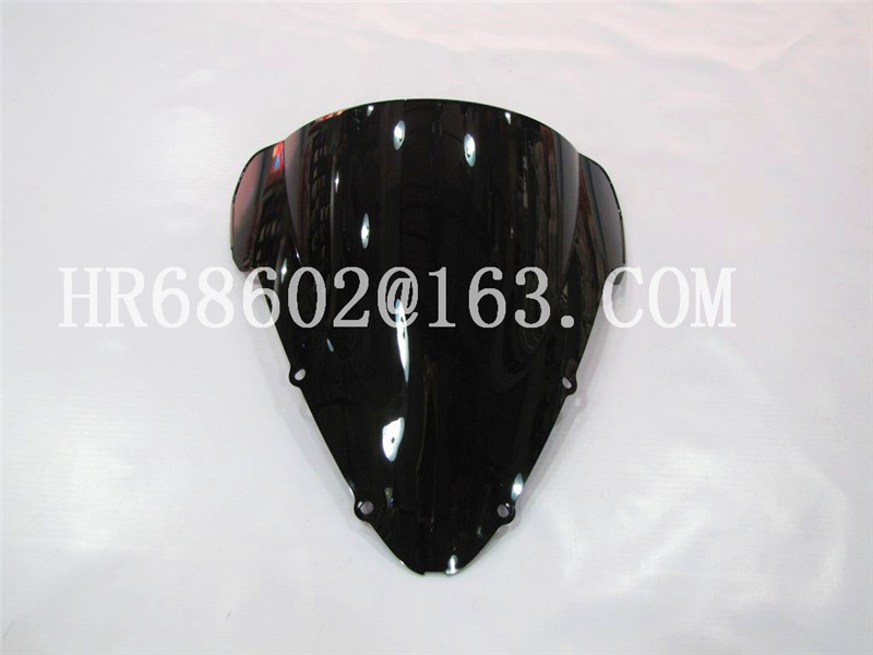 For Honda CBR 600 F4I CBR600 f4i 2001 2002 2003 2004 2005 2006 2007 cbr Black Windshield WindScreen Double Bubble fit for honda cbr 600 f4i 2004 2005 2006 2007 injection abs plastic motorcycle fairing kit bodywork cbr600 f4i cbr600f4i cb37