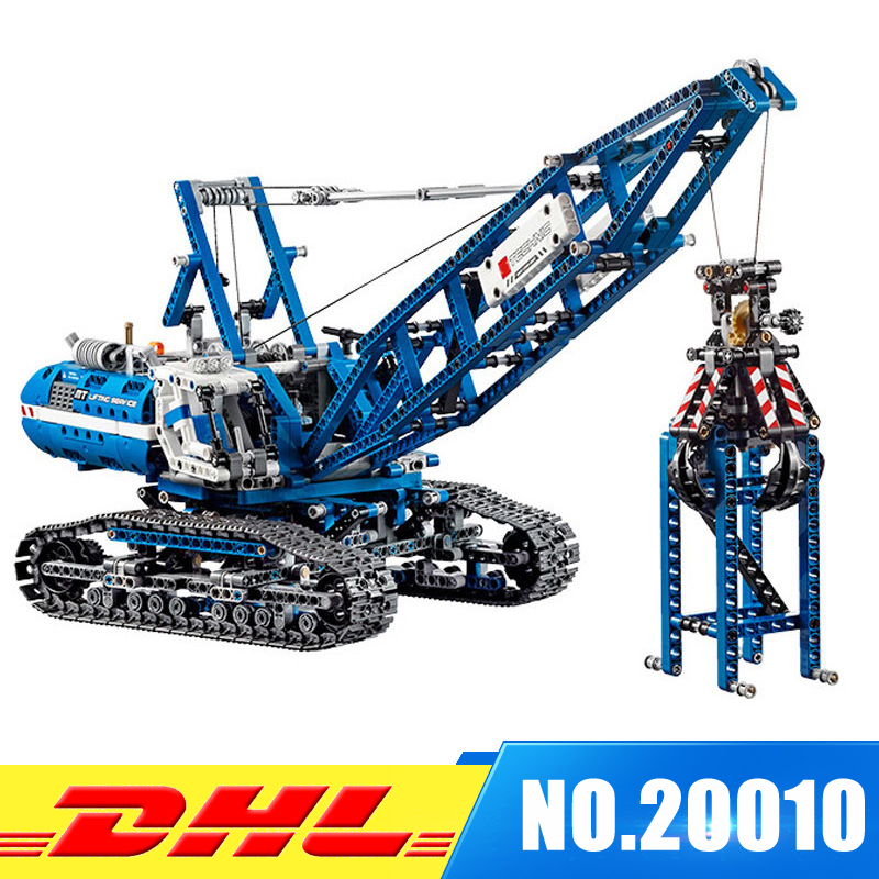2018 New LEPIN 20010 1401Pcs Technic Series Crawler Crane Model Building Kits Blocks Bricks Children Toys Gift 42042 2017 women pu messenger bag plaid ladies crossbody bag chain trendy gold color small flap shopping handbag c1480