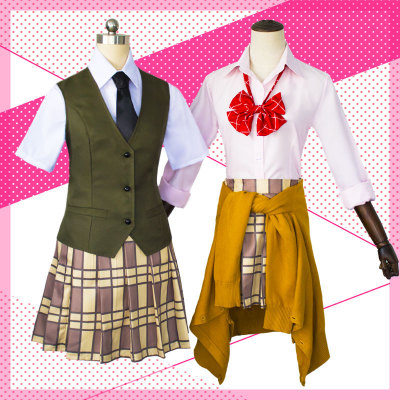 2018 Japanese Anime Citrus Aihara Yuzu / Aihara Mei Uniform Outfit Cosplay Costume Neckwear+Shirt+Skirt+Vest / Sweater+Stockings