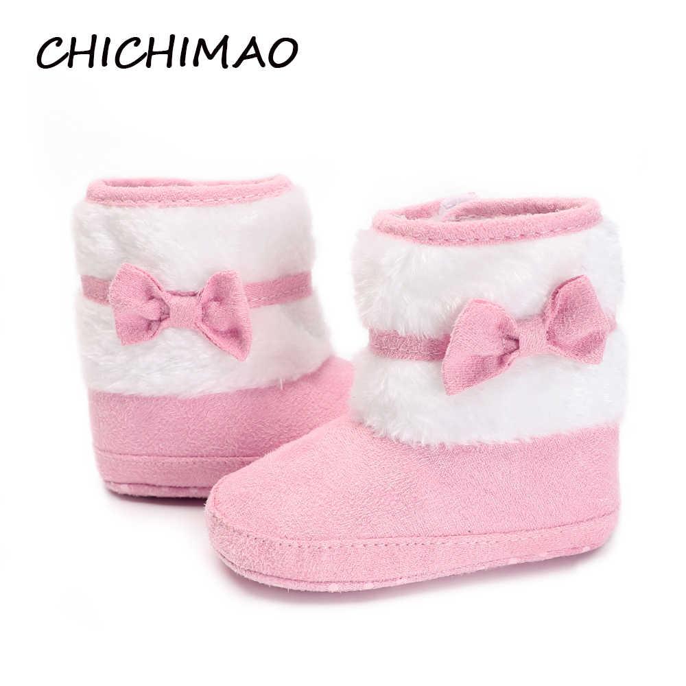 36be383725ba6 New Born Baby Girls Booties Cute Little Butterfly knot Winter Warm ...