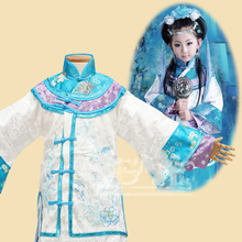 Qing Luo Blue Costume Republican Period Rich Maid Miss Costume Mummy-Daughter Family Outfit Parent-child costumes set luo q blue 40