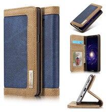 Antecase для iphone 5S SE случае Роскошные кожаные Filp кошелек слот для карты холст ковбой чехол для iPhone 5 5S se 6 6 S 7 Plus флип чехол