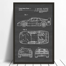 Buy vintage posters blueprint and get free shipping on aliexpress office blueprint patent print wall decor automobile decor vintage automobile art classic car poster no frame malvernweather Gallery
