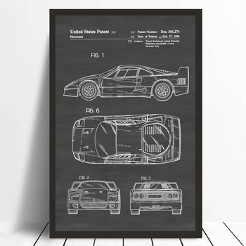 Classic poster world store small orders online store hot selling office blueprint patent print wall decor automobile decor vintage automobile art classic car poster no frame malvernweather Gallery